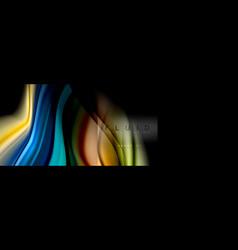 Rainbow fluid abstract shapes liquid colors vector