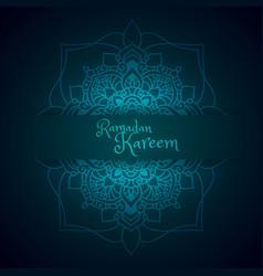 Ramadan greeting with mandala pattern vector