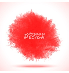 Red Watercolor splatter vector