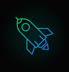 rocket colored icon or logo element in vector image