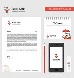 Santa clause business letterhead calendar 2019 vector