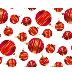 scattered xmas baubles seamless pattern vector image