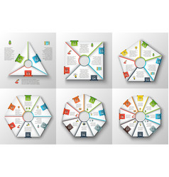 set geometric shapes for infographic vector image