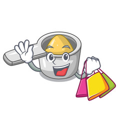 Shopping character measuring spoon for cooking vector