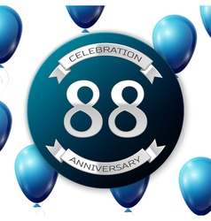 Silver number eighty eight years anniversary vector