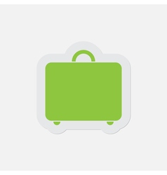 Simple green icon - suitcase vector