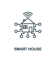 smart house outline icon creative design from vector image