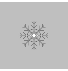 snowflake computer symbol vector image