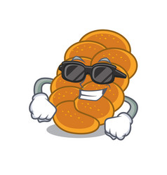 Super cool challah character cartoon style vector
