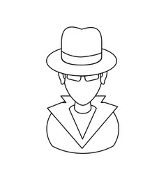 Suspicious looking man icon image vector