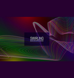 Swirling background design with colourful stream vector