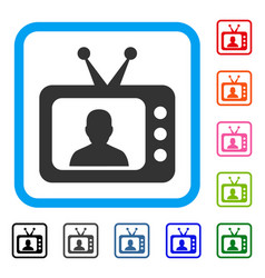 tv speaker framed icon vector image