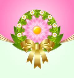 wreath spring decoration vector image