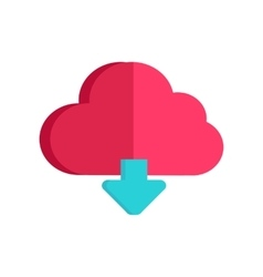Cloud storage web button loading process sign vector