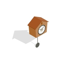 Cuckoo clock icon isometric 3d style vector image vector image