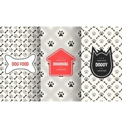 Dog seamless pattern background vector image vector image