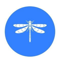 Dragonfly icon in black style isolated on white vector image