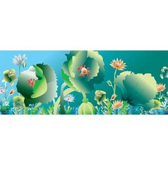 flowers and plants background vector image vector image