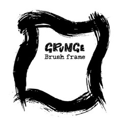 handdrawn grunge dry brush frames modern grunge vector image vector image
