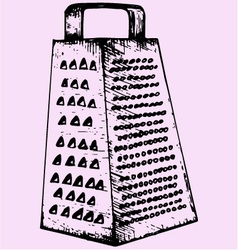 kitchen grater vector image vector image
