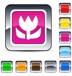 macro square button vector image vector image