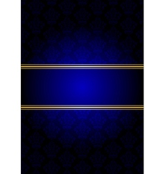 blue and gold background vector image vector image