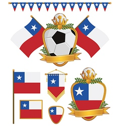 chile flags vector image vector image