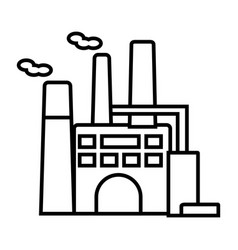 factory line icon sign on vector image