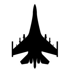 fighter aircraft silhouette military equipment vector image vector image
