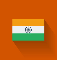 Flat flag of India vector image vector image