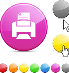 Print glossy button vector