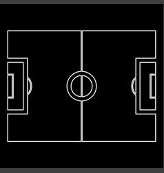 Soccer field white color path icon vector