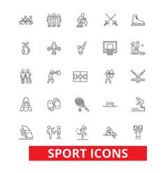 sport football soccer box hockey running vector image vector image