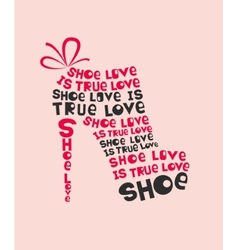 Woman shoe from words vector image vector image