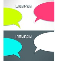 Conversation background in stylish bright vector