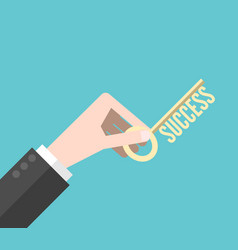hand holding success key vector image