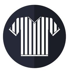 Jersey referee american football shadow vector