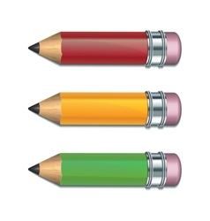 Set of Coloured pencils vector image vector image