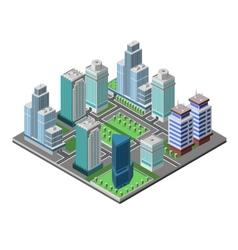 Skyscraper City Concept vector image vector image