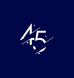 45 years anniversary celebration elegant number vector