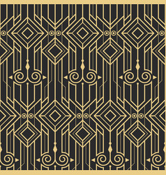 Abstract art deco modern seamless pattern vector