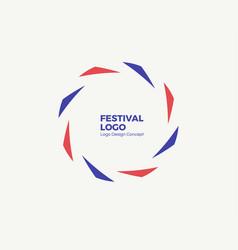 abstract circular dynamic logo vector image
