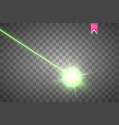 Abstract green laser beam laser security beam vector