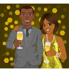 African american business man and elegant woman vector