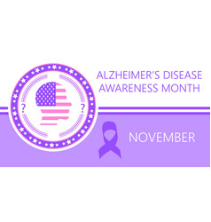Alzheimer s disease awareness month is organized vector