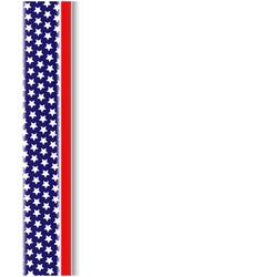 American flag design element frame vector