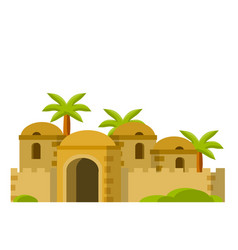 Arab and mud houses middle east desert vector