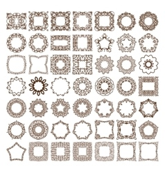 Big set of simple linear monograms vector image vector image