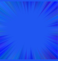 blue abstract hypnotic star burst background vector image