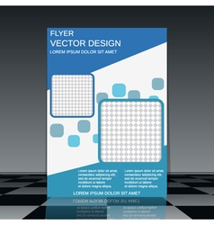 Booklet design template vector image